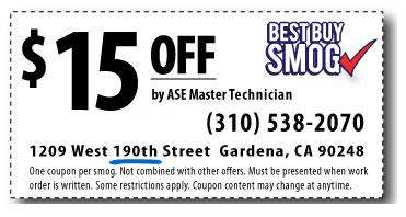 Smog Check Coupon Torrance